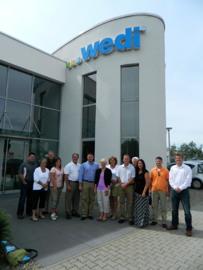 Wedi Emsdetten distributors and partners visit wedi factory in emsdetten germany