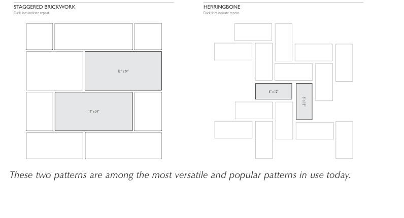 3 Tile Patterns Drawings