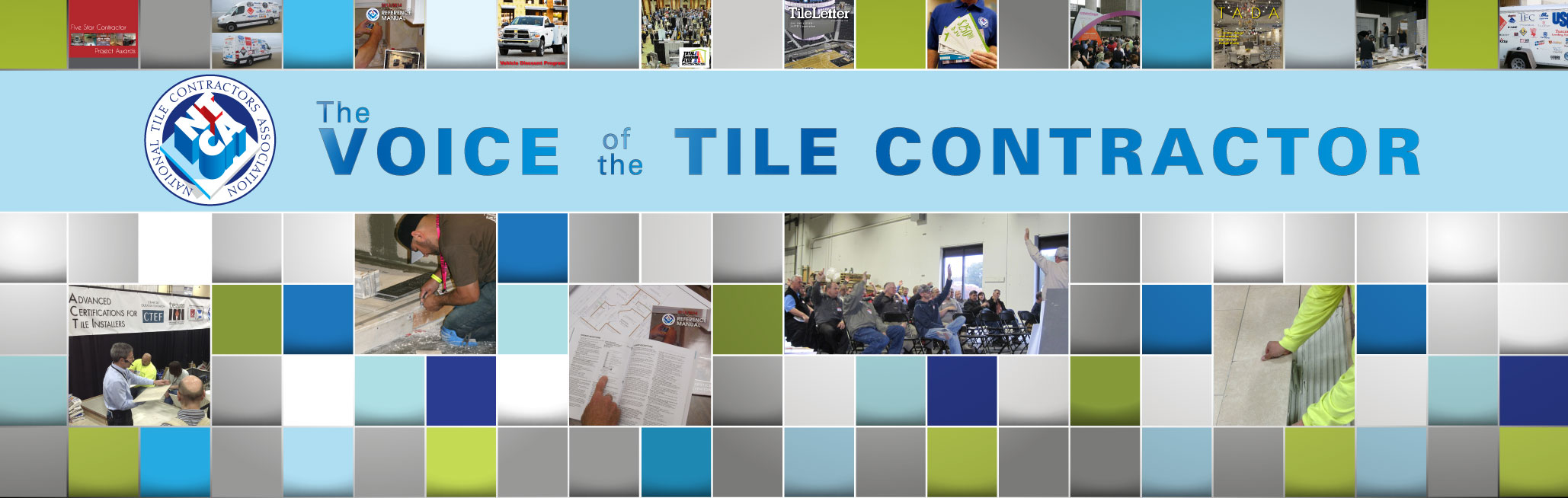 NTCA's new booth, designed by NTCA's Michelle Chapman, shows NTCA programs in a dynamic, graphic format.