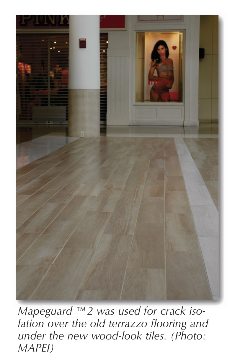 Features page 8 tileletter with a properly prepared substrate to work on the installers began setting 8 x 48 porcelain tiles with the look of wood planks a very new and popular dailygadgetfo Choice Image