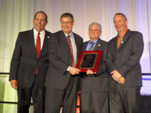 NTCA President James Woelfel, Eric Astrachan, Joe A. Tarver and Bart Bettiga, NTCA Executive Director