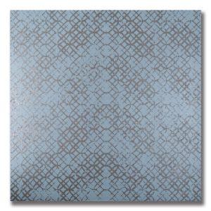 AKDO's Etro porcelain tile, in the Metal Celeste colorway.