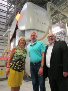 Congressman Diane  Black with Crossville's Sam Dryden (c.) and Mark Shannon.