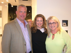 Calvin Klein's Heather Ambler, director of retail development and marketing, is flanked by Daltile's Chris Kiene and Corintha Runge.