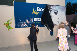 UNVEILING OF THE 20' X 8' BACKLIT MOSAIC MURAL