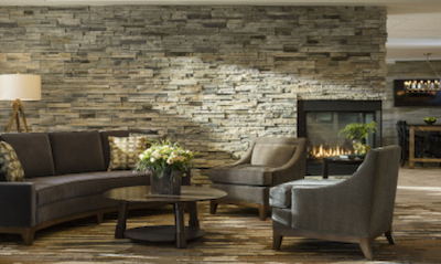 Stone Veneer At Fireplace, Accent Walls In Lobby, And Accent Wall In Indoor  Pool U2013 Boral Stone Products LLC/Pro Fit Alpine Ledgestone Cultured Stone,  ...