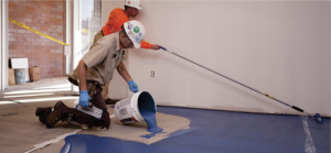 "TEC® LiquiDam EZ™ is the industry's first single-component, liquid-based moisture vapor barrier. It dries in a quick four to five hours, allowing for same day flooring installation. ""TEC LiquiDam EZ easily saves 30-40% on labor,"" says Brian Estes of Certified Floorcovering Services, Inc."