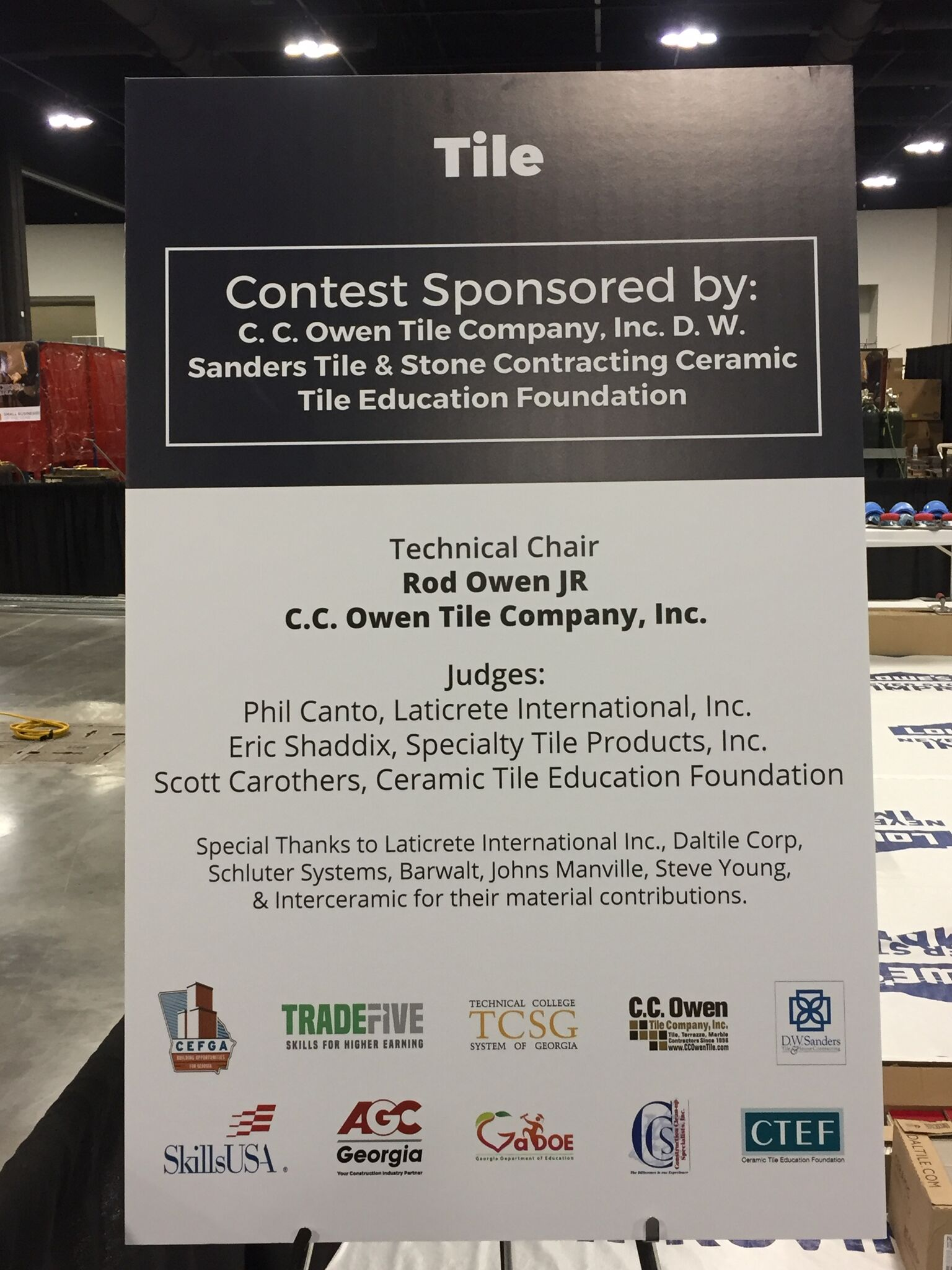 April 2017 tileletter the tile setting competition was sponsored by cc owen tile company dw sanders tile stone contracting and the ceramic tile education foundation dailygadgetfo Images