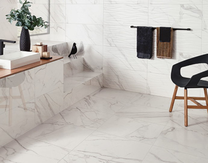 Precioushdp From Florida Tile Authentically Captures The Essence And Beauty Of Calacatta Marble Including Stone S Intense Random Grey Brown